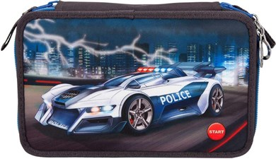 Depesche Monster Cars - Trippel Pencil Case w/LED - Police Car (0410840)
