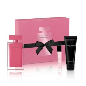 Narciso Rodrigues - For Her Fleur Musc EDP 100 ml + Bodylotion 75 ml + EDP 10 ml - Giftset
