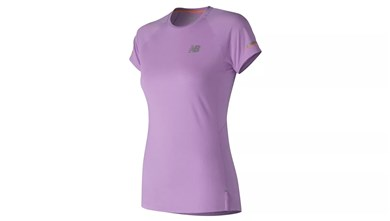 Kortærmet Sport T-shirt New Balance NB Ice 2.0 Dame Lilla S