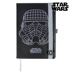 Notesbog Star Wars A5 Sort