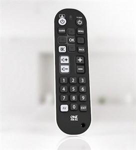 Image of   Zapper + fjernbetjening IR trådløs Lyd, Kabel, DVD/Blu-ray, DVDR-HDD, DVR, Hjemmebiografsystem, SAT, TV, TV set-top-boks, Web TV Tryk på knapper