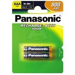 Panasonic Opladelig AAA Batt. Nimh 2 stk. 750 mAh