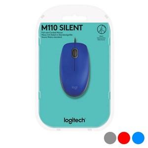Optisk mus Logitech M110 Silent 1000 dpi USB Rød