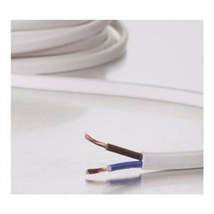 Image of   Ovalt strømkabel H03VVH2-F (2x0,75mm) 5m, hvid