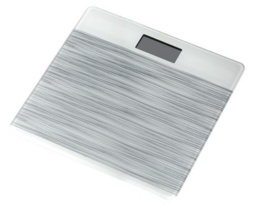 Image of   Personal scale i tempered glass, gray
