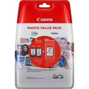 Canon PG-545XL value pack & 10x15 GP 501 (50)