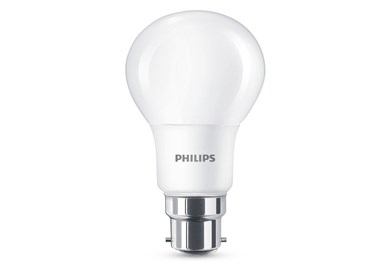Image of   8 W (60 W) B22, varm hvid lyskilde, kan ikke dæmpes