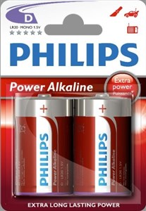 Philips Power Alkaline Batteri LR20P2B/10