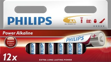Philips AA power alkaline batteri 12-pak
