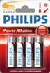 Philips AA power alkaline batteri 4-blister