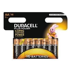 Plus Power AA Alkaline Batterier, 16pk