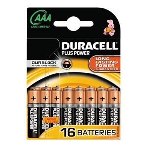 Plus Power AAA Batterier, 16pk