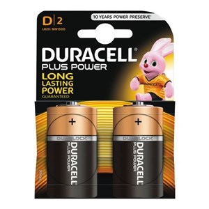 Duracell Plus Power D Batterier, 2pk