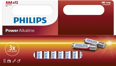 Philips Philips Power Alkaline AAA 12-wide
