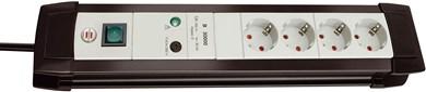 Image of   Premium overspændingsbeskytter 6 AC stikkontakt(er) 3 m Sort