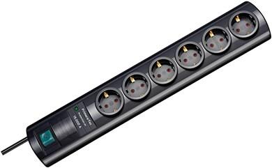 Image of   Primera-Tec overspændingsbeskytter 6 AC stikkontakt(er) 2 m Sort