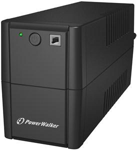PWALK-0007 UPS, 2xSchuko, 650 VA, 0.55 OF, black