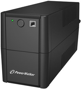 PWALK-0009 UPS, 2xSchuko, 850 VA, 0.55 OF, black