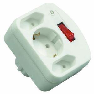 Image of   00135501 overspændingsbeskytter 3 AC stikkontakt(er) 250 V Hvid