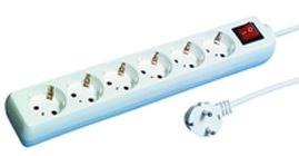Image of   512360555 overspændingsbeskytter 6 AC stikkontakt(er) 250 V 1,4 m Hvid