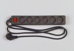 Image of   512380555 overspændingsbeskytter 6 AC stikkontakt(er) 250 V 1,4 m Sort