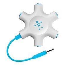Rockstar Multi Headphone Splitter, Blue