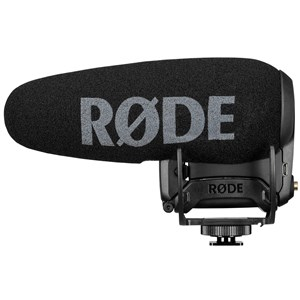 Rode Videomic PRO + Sort Mikrofon til digitalt videokamera