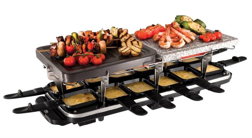 Russell hobbs classics 12 pan raclette 19560 56 raclette - Appareil raclette 10 personnes ...