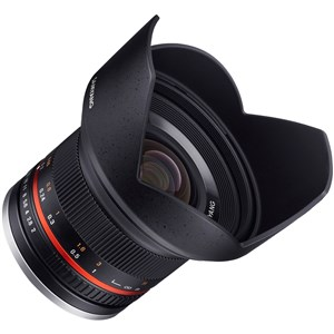 12mm F2.0 NCS CS SLR Bred linse Sort