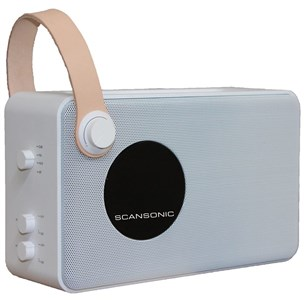Scansonic PA4600 DAB+ radio m. bluetooth - hvid