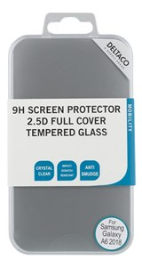 Billede af screen protector for Galaxy A6 (2018), 2.5D tempered glass