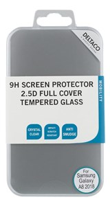 Billede af screen protector for Galaxy A8 (2018), 2.5D tempered glass