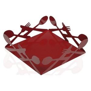Servietholder Metal Rød