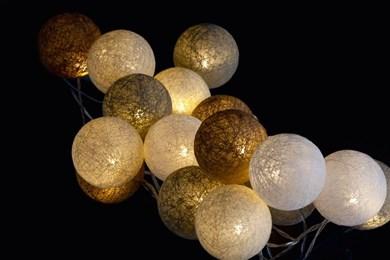 Image of   29419 dekorativ belysning Dekorativ lyskæde Beige, Brun, Kaki 20 Lampe( r) LED