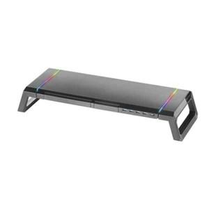 Skærm bord støtte Mars Gaming MGS PREMIUM LED RGB Sort