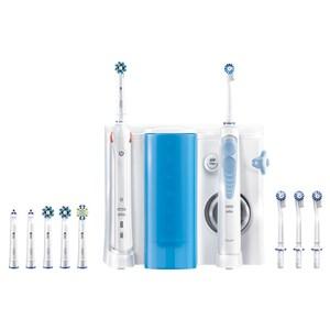 Billede af Elektrisk tandbørste + Oral Fugter Oral-B SMART5000+OXYJET Bluetooth Hvid
