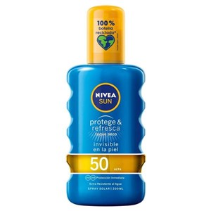 Solcreme spray Protege & Refresca Nivea Spf 50 (200 ml)