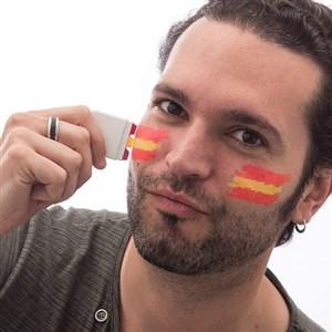 Image of   Spansk Flag Ansigtsmaling