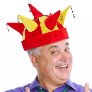 Image of   Spansk Jokerhat med Klokker