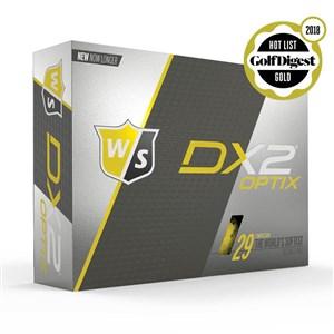 STAFF - DX2 SOFT OPTIX YELLOW GOLF BALLS - 12 PACK