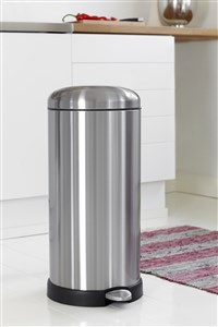 Steel-Function 30 L. Pedal Bin Slow Down