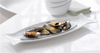 Steel-Function Capri Fish Dish With S/S Tray