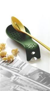 Steel-Function Spoon Rest Silicone Green
