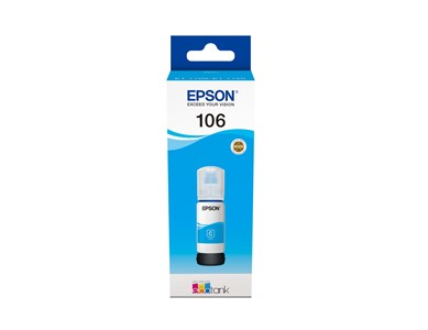 Epson T106 EcoTank Cyan Ink bottle