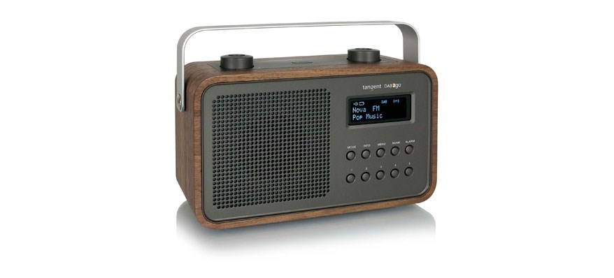 tangent dab 2go bt portable walnut radio. Black Bedroom Furniture Sets. Home Design Ideas