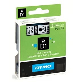 Dymo Tape D1 12mmx7m black/clear