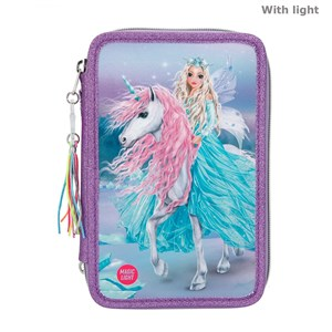 Depesche Top Model - Fantasy Trippel Pencil Case w/LED - Icefriends (11181)