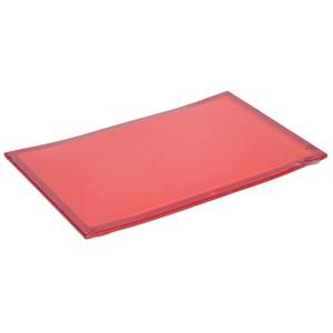 Image of   Touch 32 x 20 cm køkken skærebræt Plast, Rustfrit stål Rød