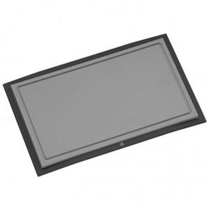 Image of   Touch 32 x 20 cm køkken skærebræt Plast, Rustfrit stål Sort, Grå