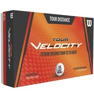 - TOUR VELOCITY GOLF BALLS - WHITE, 15 PACK